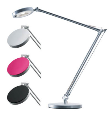 hansa schreibtischlampe 4you mit fu silber. Black Bedroom Furniture Sets. Home Design Ideas