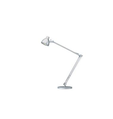 Schreibtischlampe Valencia mit Fuß silber