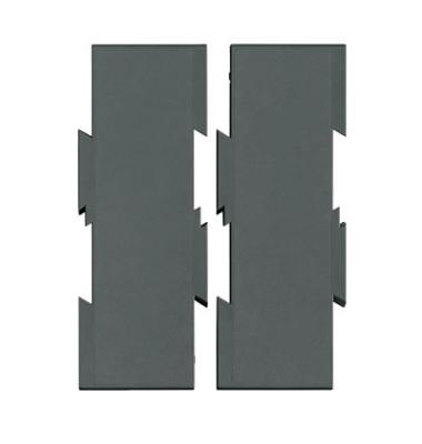 Erweiterungsset 2 Platten schwarz 7,5x26cm