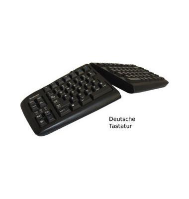 PC-Tastatur Goldtouch Adjustable V2, mit Kabel (USB), ergonomisch, geteilt, leise, Sondertasten, schwarz