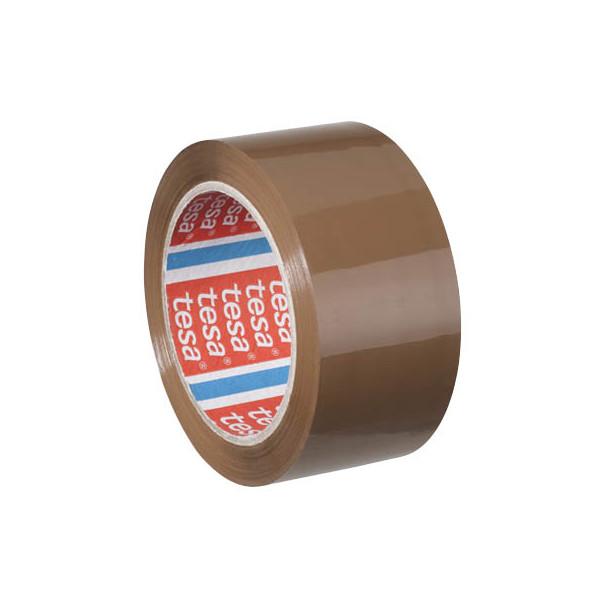 Tesa packband tesapack 4195 50mm x 66m braun pp for Schreibtisch 1m lang