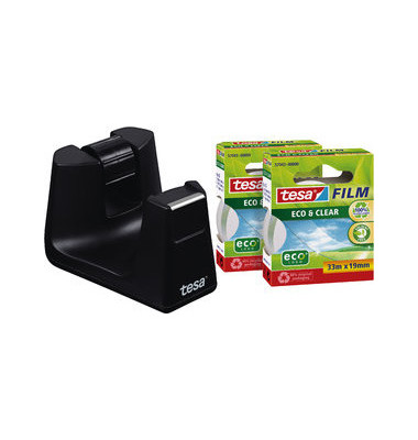 Tischabroller Easy Cut SMART schwarz 19mm x 33m inkl.2Ro