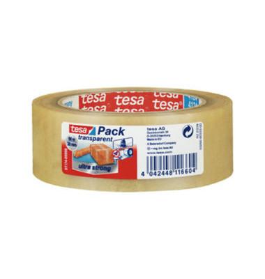 Packband Tesapack Ultra Strong 57174-00000, 38mm x 66m, PVC, transparent