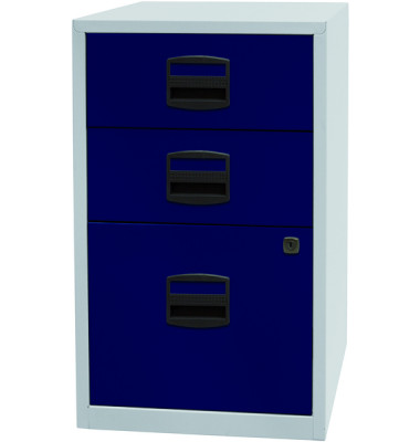 Beistellschrank PFA Einstiegsmodell, Grau/Oxfordblau
