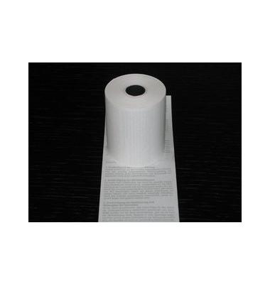 Thermorollen 57mm x 18m Kern-Ø 12,3mm weiß mit Druck Lastschrift