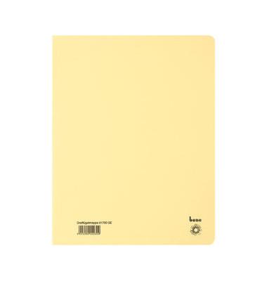 Einschlagmappe 81700 A4 gelb 250g 3 Klappen bis 250 Blatt