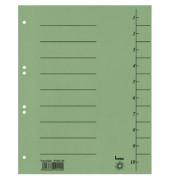 Trennblätter 97300 A4 grün 250g 100 Blatt Recycling