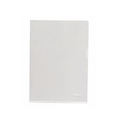 Sichthüllen 201200, A4, farblos, transparent, genarbt, 0,08mm, oben & rechts offen, PP