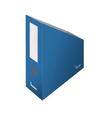Stehsammler 312400BL 100x260x320mm A4+ Pappe blau