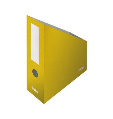 Stehsammler 312400GE 100x260x320mm A4+ Pappe gelb