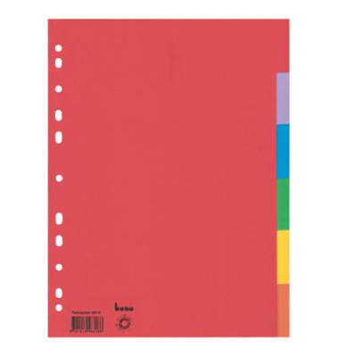 Kartonregister 48318 blanko A4 180g farbige Taben 6-teilig