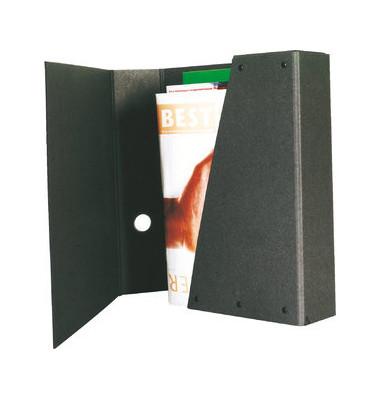 905 schwarz Ordner A4 ohne Abheftmechanik 80mm breit