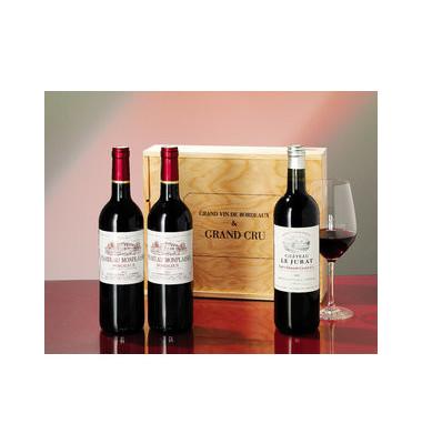 Geschenkset GrandCru &Bordeaux 340x280x115 3x0,75L
