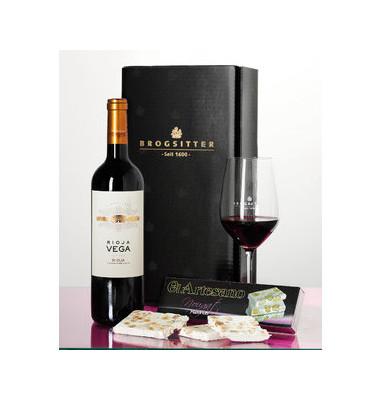 Geschenkset Rioja& span.Nougat 380x220x125