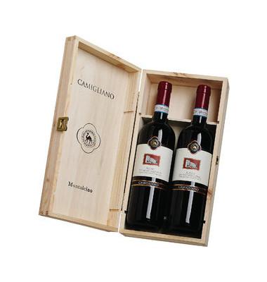Edler Rosso di Montalcino Holzkiste 2 Fl