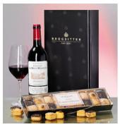 Bordeaux Château & Käsegebäck 3-teilig im Geschenk- karton
