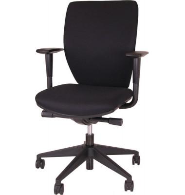 Bürodrehstuhl 5010 gepolsterte Rückenlehne schwarz, Komfortsitz gepolstert,