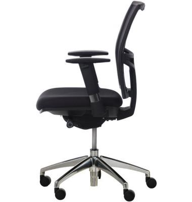 Bürodrehstuhl 5030 Rückenlehne mit Netzbespannung in schwarz