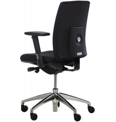 Bürodrehstuhl 5040 mit höhenverstellbare gepolsterte Rückenlehne, schwarz