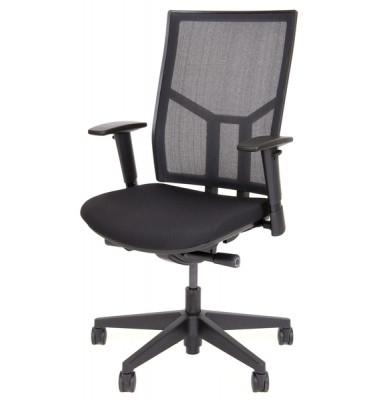 Bürodrehstuhl 5060 RückenlehneSynchronmechanik mit Netzbespannung schwarz, Komfortsitz