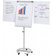 BüroLine Flipchart deLuxe Mobil 68 x 104cm grau
