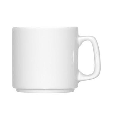 Kaffeebecher stapelb. m.Henkel weiß D:79mm/0,26L H: 78mm