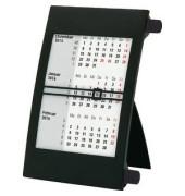 Dreimonatstischkalender 3Monate/1Seite zum Aufstellen schwarz 11x18cm 2018