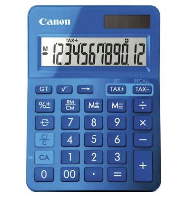 Tischenrechner mit 12 stelligem, Display, Farbe: metallicblau.