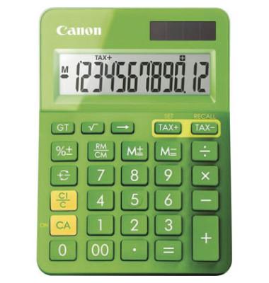 Tischenrechner mit 12 stelligem, Display, Farbe: metallicgrün.