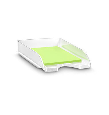 Briefablage Gloss A4 / C4 weiß staplebar