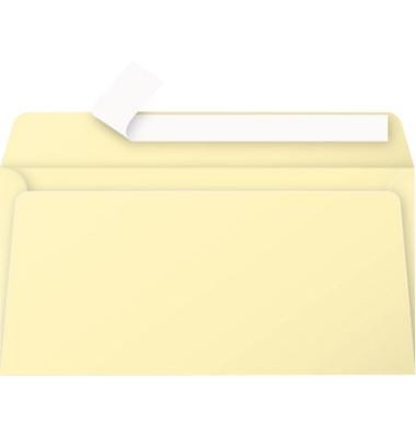 Designbriefumschläge Din Lang ohne Fenster haftklebend 120g chamois 20 Stück