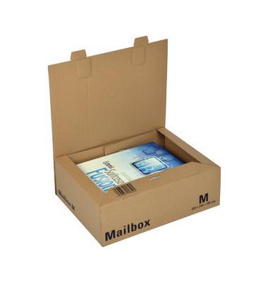 Versandkarton Mailbox M 330x253x110 mm A4+ braun 1 Stück