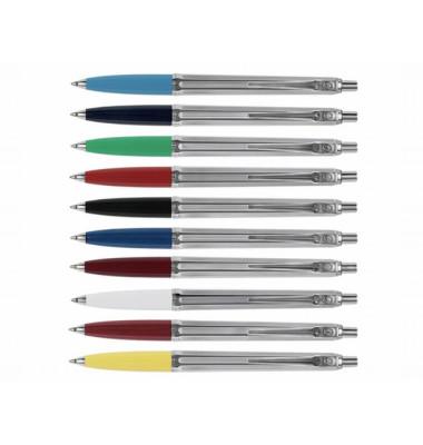 Kugelschreiber Epoca farbig sortiert Mine M Schreibfarbe blau