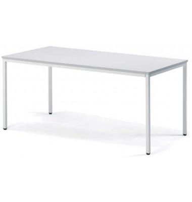 Schreibtisch lichtgrau rechteckig 160 x 80 x 72 cm
