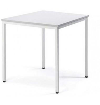 Schreibtisch Line 21723801 lichtgrau quadratisch 80x80 cm (BxT)