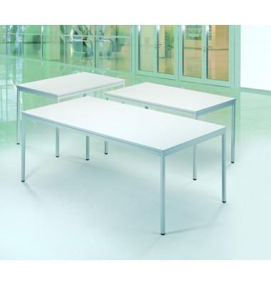 Schreibtisch Line 21724401 lichtgrau rechteckig 200x80 cm (BxT)