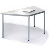 Schreibtisch Line 21724801 lichtgrau Trapezform 160x80 cm (BxT)