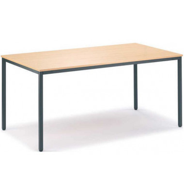 Schreibtisch Line 21725401 buche quadratisch 80x80 cm (BxT)