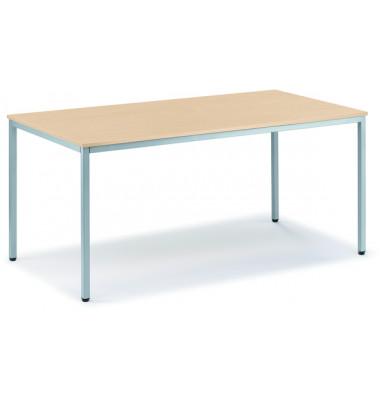 Schreibtisch Line 21726401 ahorn rechteckig 120x80 cm (BxT)