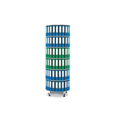 Ordnerdrehsäule 6 Etagen lichtgrau bis 216 Ordner komplett drehbar