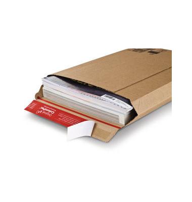 Wellpapp-Versandtaschen B5 ohne Fenster 50mm Falte haftklebend braun 20 St