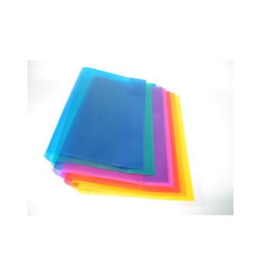 Heftumschläge 2286095 A5-quer transparent PP 150my 10 Stück