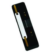 Heftstreifen kurz 7792925F-01, 34x150mm, Kunststoff mit Kunststoffdeckleiste, schwarz, 25 Stück