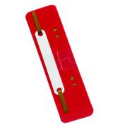 Heftstreifen kurz 7792925F-04, 34x150mm, Kunststoff mit Kunststoffdeckleiste, rot, 25 Stück