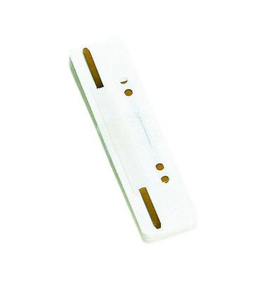 Heftstreifen kurz 7792925F-09, 34x150mm, Kunststoff mit Kunststoffdeckleiste, weiß, 25 Stück