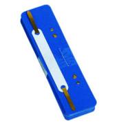 Heftstreifen kurz 7792925F-10, 34x150mm, Kunststoff mit Kunststoffdeckleiste, blau, 25 Stück