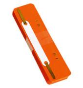 Heftstreifen kurz 7792925F-12, 34x150mm, Kunststoff mit Kunststoffdeckleiste, orange, 25 Stück