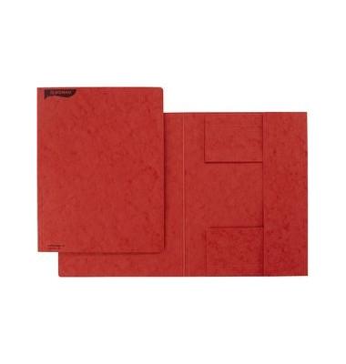 DONAU Einschlagmappe 23,5 x 31,9 cm 3 Klappen rot Pressspan A4 390 g//m²