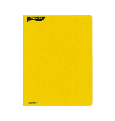 Flügelmappe Presspan 390g gelb A4