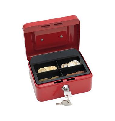 Geldkassette 145 Größe 1 rot 152x155x80mm
